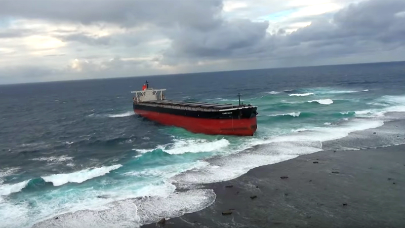 Cargo Ship Collides With Coral Reef In Mauritius: Environmental Disaster Feared (Video)